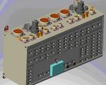 3Д Модель сборки корпуса клеммного блока